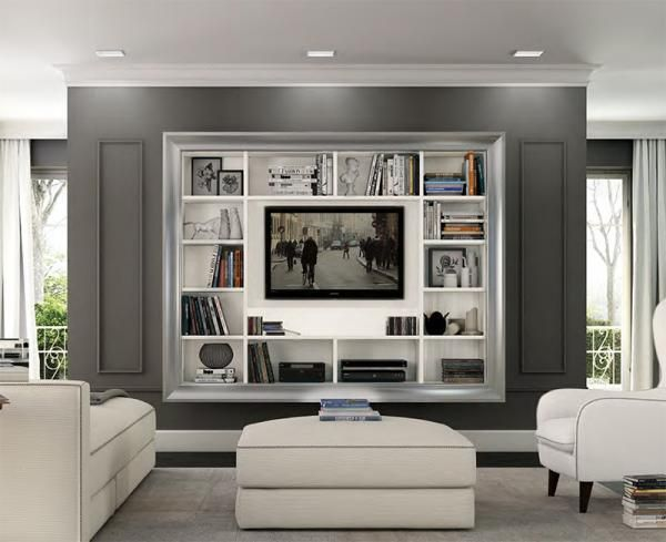 Colombini Arcadia Wall Mounted Tv Unit With Shelving Wall Mounted Tv Unit Wall Mounted Tv Mounted Tv Ideas Bedroom