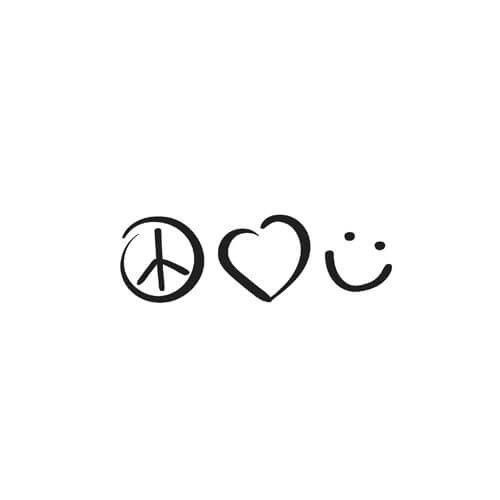 Peace Love Happiness Tattoo Designs Chinese