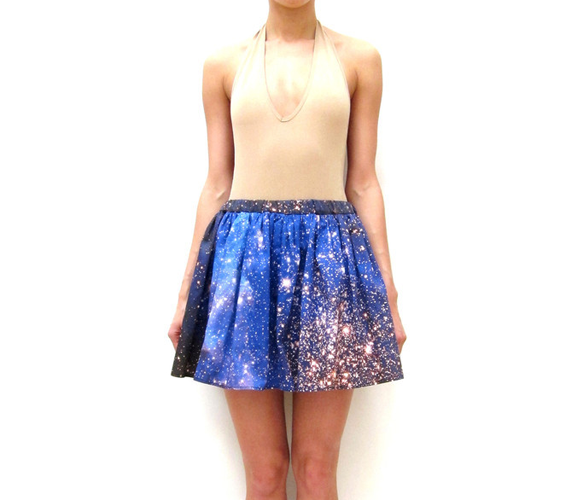 Cluster Galaxy Skirt - i think you can do this with splattered bleach too...