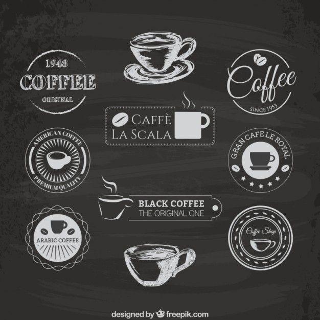 Coffee Logos Free Vector Coffee Logo Coffee Shop Logo Coffee Label
