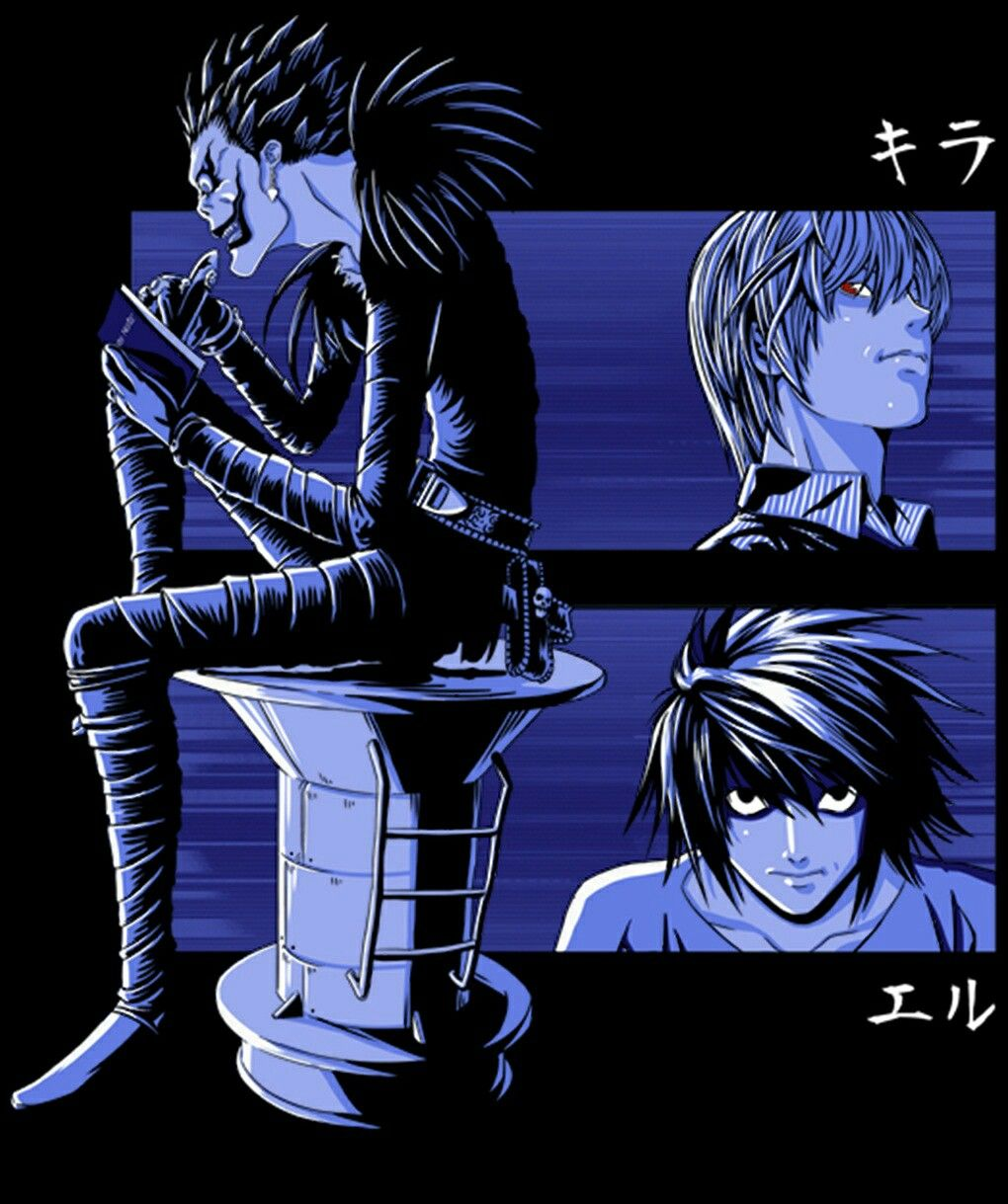 Death note: Ryuk, L & Light