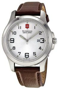 Victorinox Swiss Army Men's VICT241385.CB Class Analog Stainless Steel Watch Victorinox Swiss Army. $126.00. Quartz movement. Durable mineral. Silver dial. Water-resistant to 100 M (330 feet). Case diameter: 40 mm. Save 30% Off!