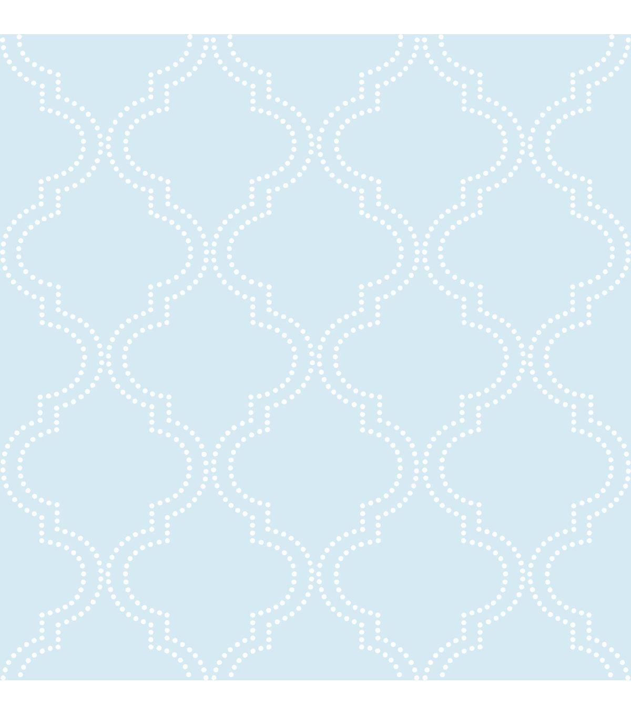 Wallpops Nuwallpaper Blue Quatrefoil Peel And Stick Wallpaper Jo Ann Quatrefoil Wallpaper Nuwallpaper Trellis Wallpaper