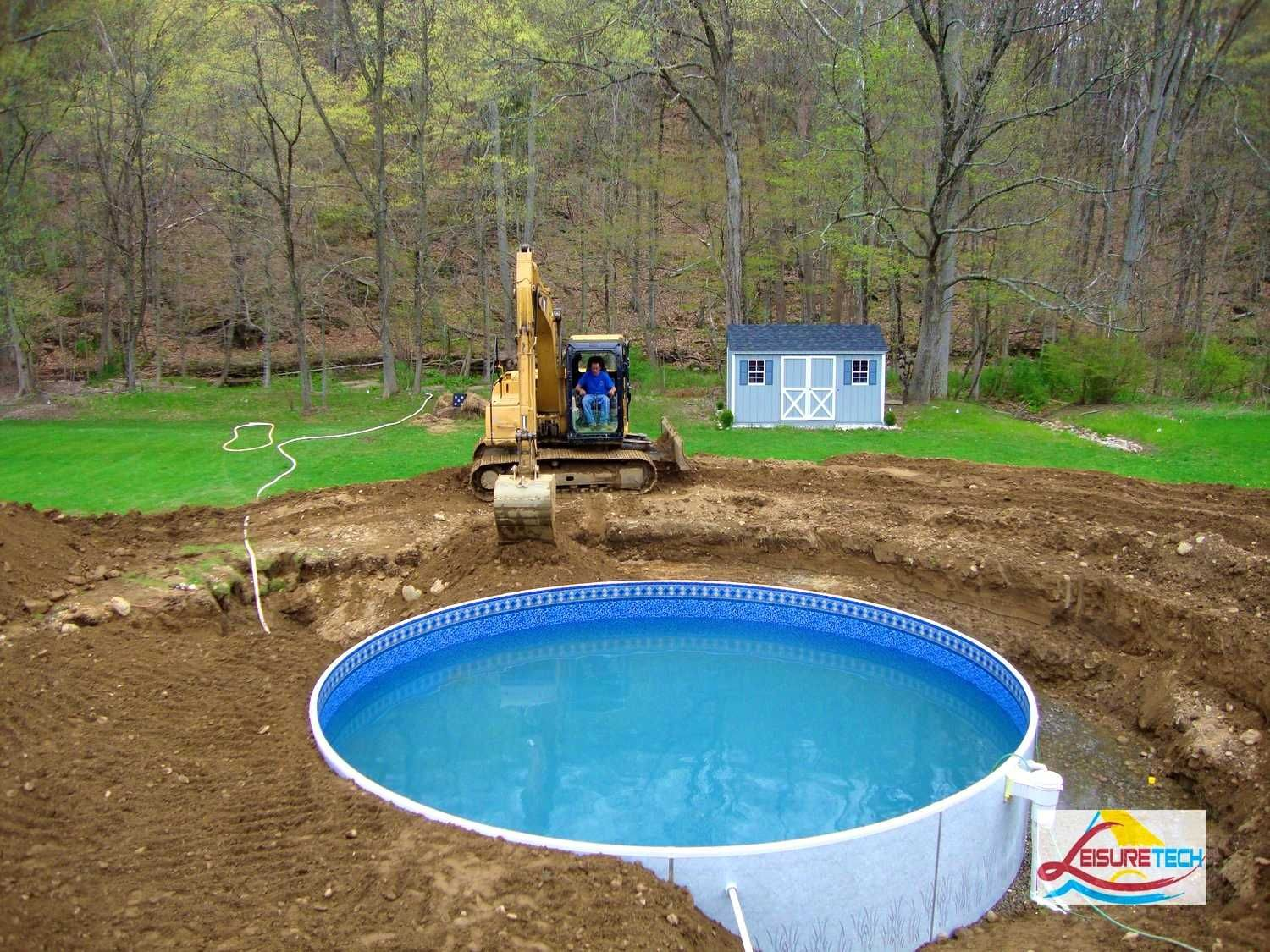 Above ground pool landscaping ideas on a budget round