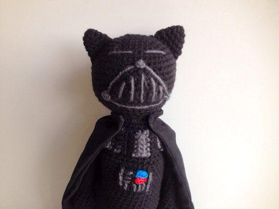 Amigurumi Cat Doll : Star wars darth vader crochet amigurumi cat doll cat doll star
