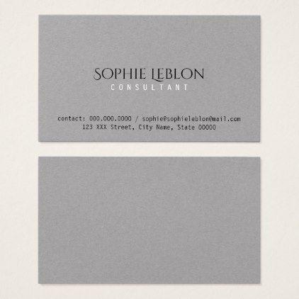 elegant minimalist elegant gray premium business card