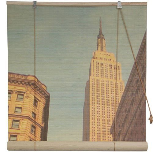 Empire State Building Bamboo Blinds - 48 Inch, Width - 48 Inches