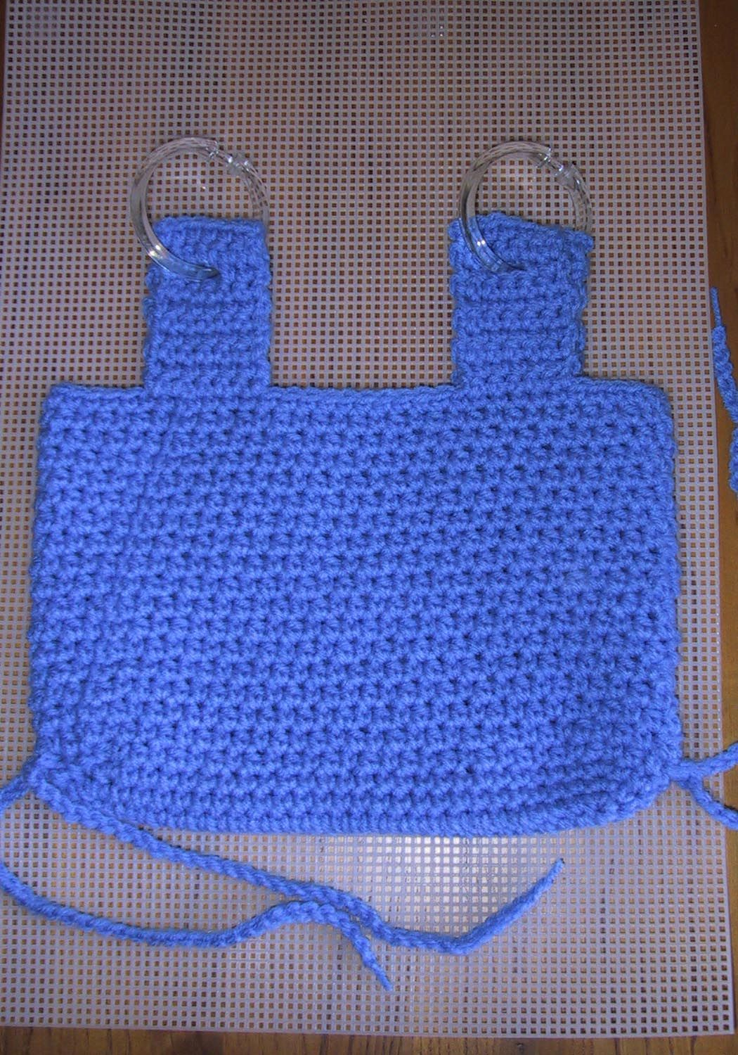 Crochet Walker / Wheelchair Tote for Charity -- This tote is wider ...