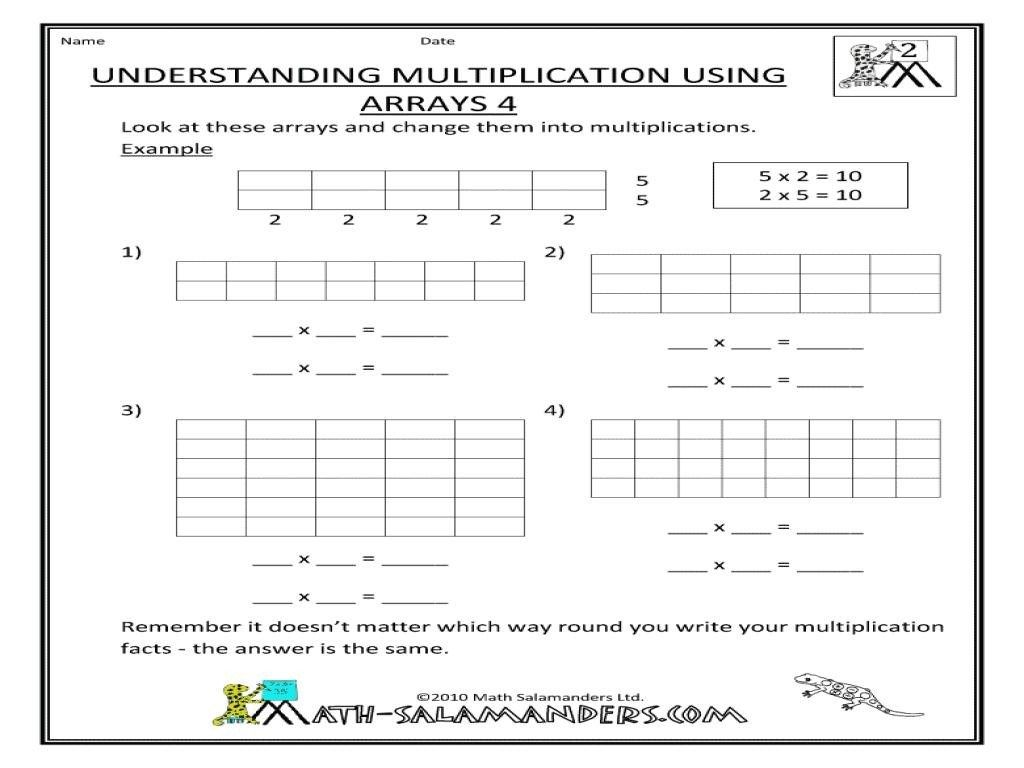 10 Array Multiplication Worksheets In