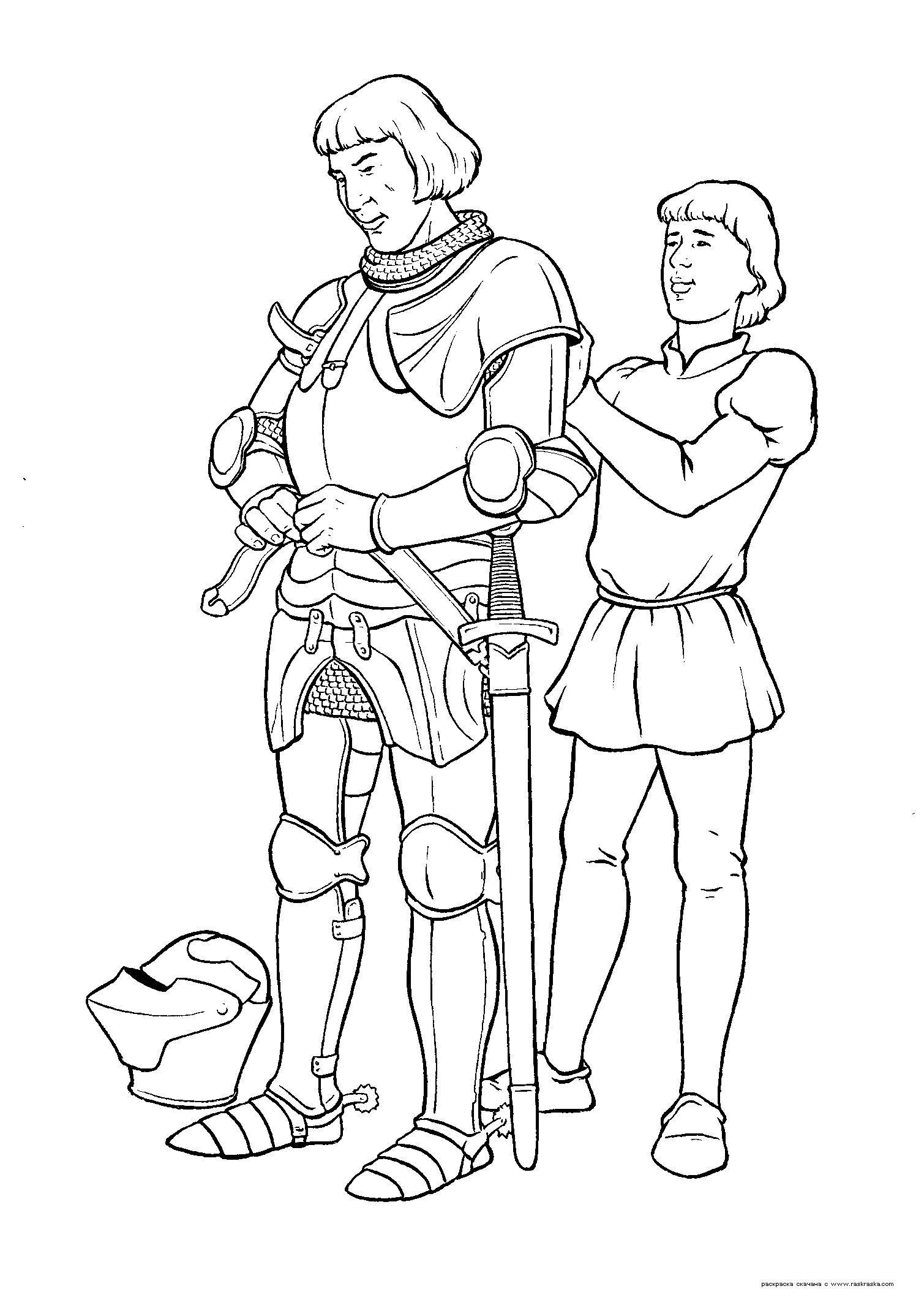 escudero medieval dibujo - Buscar con Google | los castillos ...