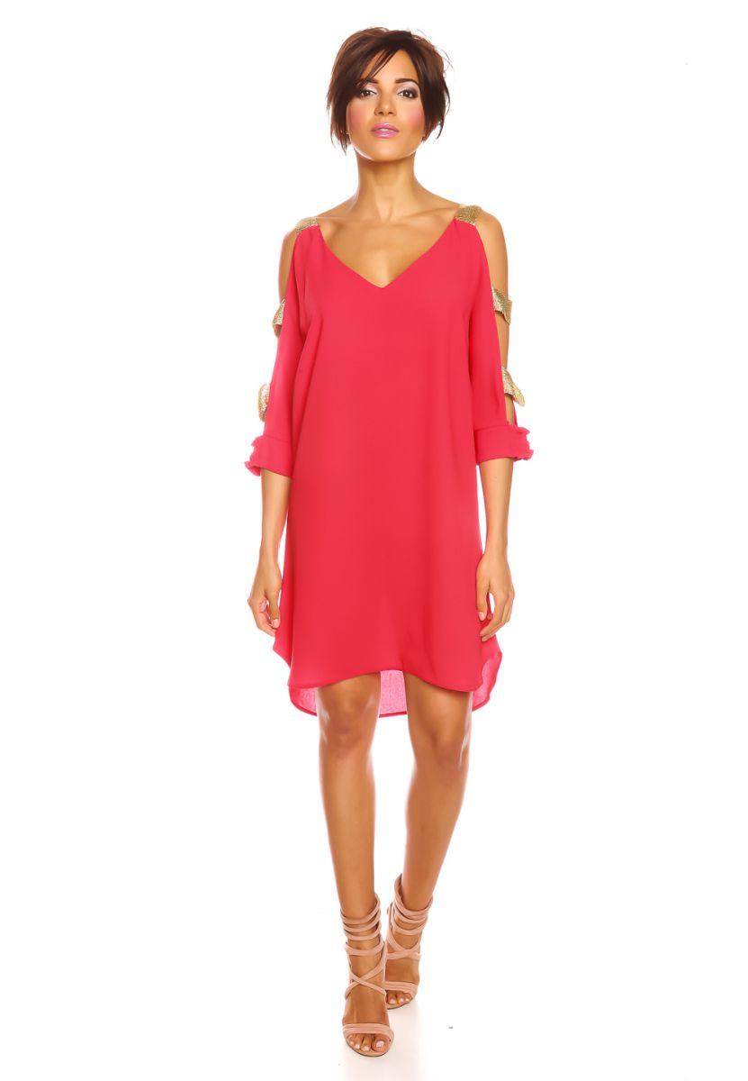Scarlet Jones Kleid Celine, 3/4-Arm, V-Ausschnitt rot Jetzt ...