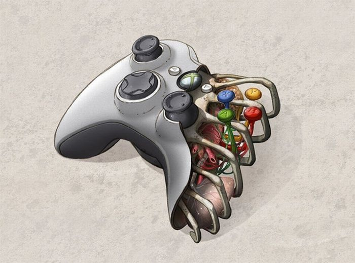 The Anatomy Of A Controller Games Video Game Art Xbox Best backgrounds for xbox one