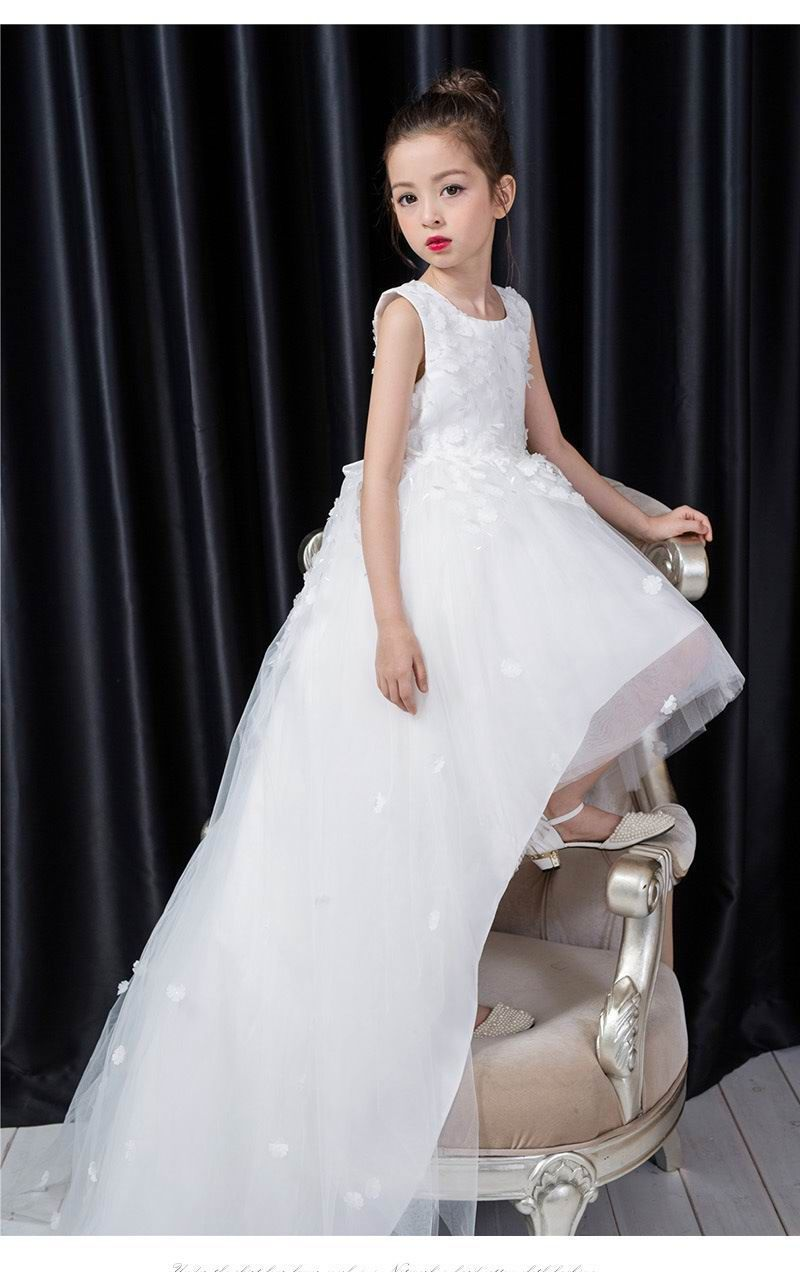 Click to buy ucuc retail kids girls maxi dresses wedding party flower