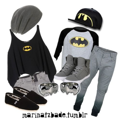 Batman couple's outfits make me :) how cute | Fashion and ...