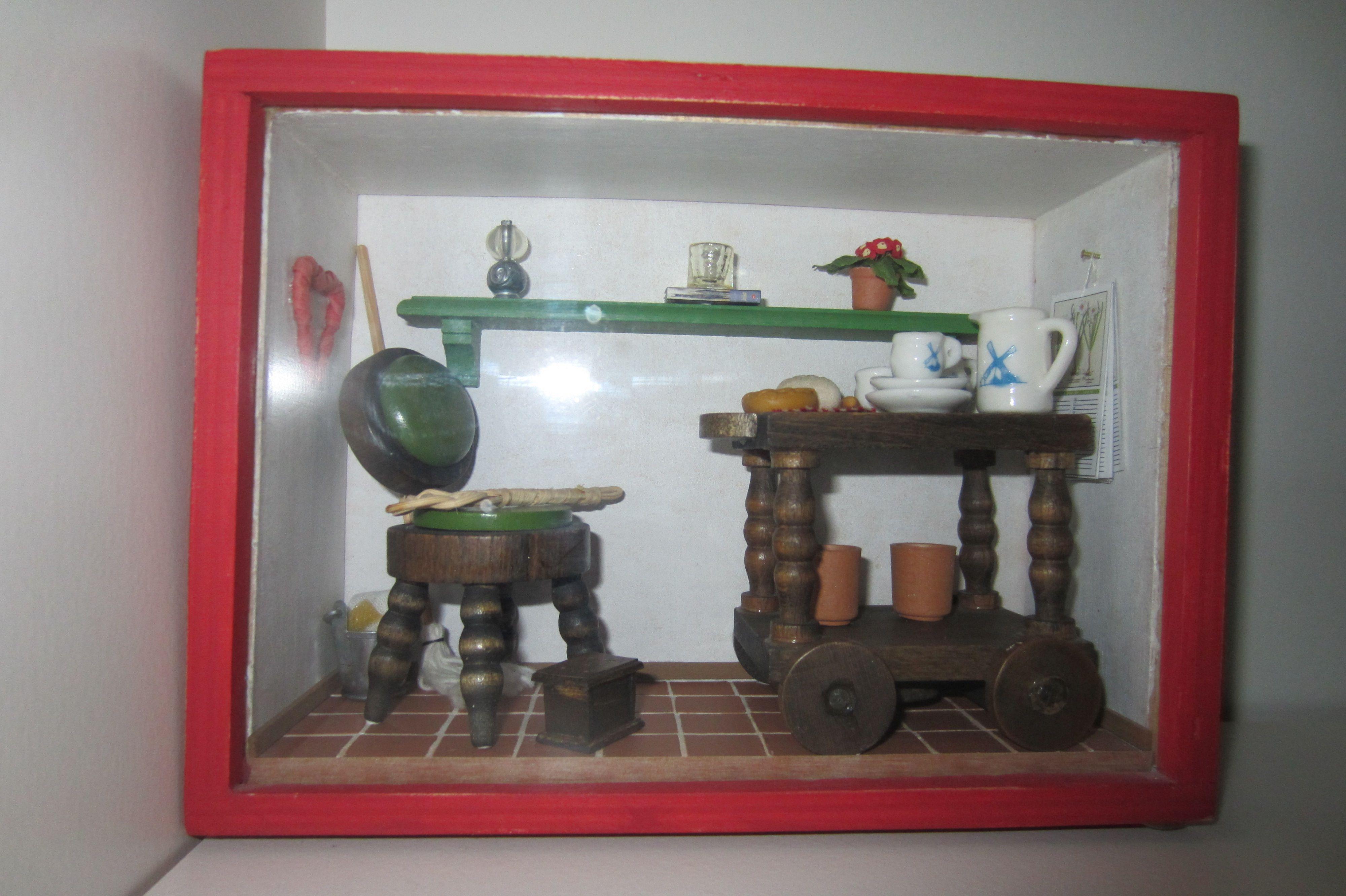 A miniature scene in a small box