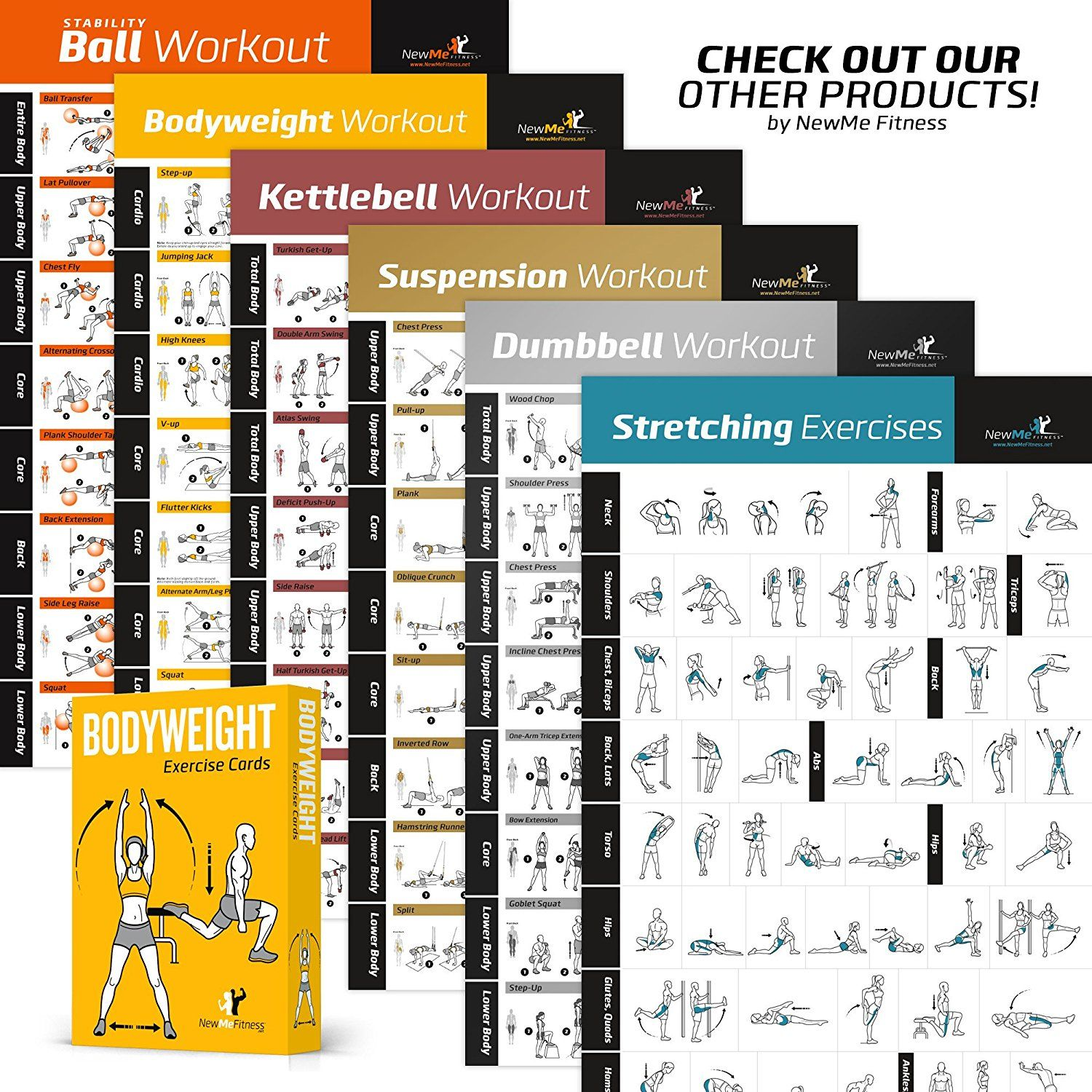 dumbbell workout exercise poster strength training chart build