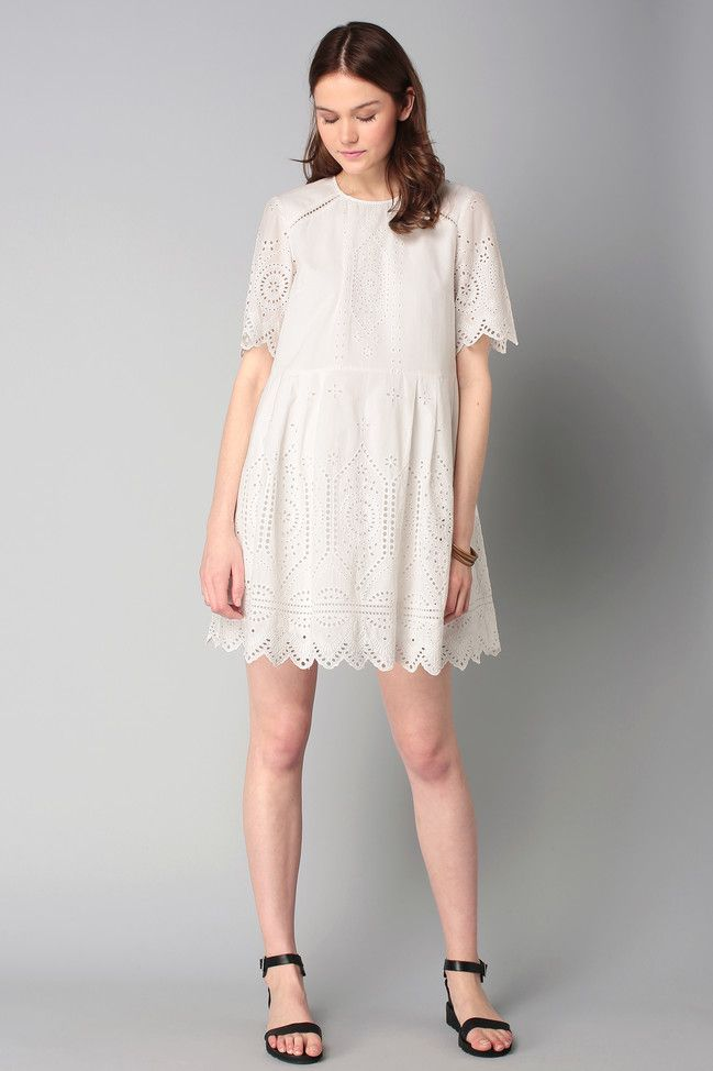 French connection twinkle lace dress