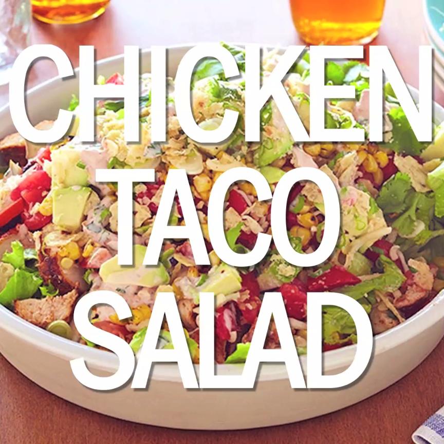 Chicken taco salad recipe taco salads chicken tacos and salad forumfinder Gallery