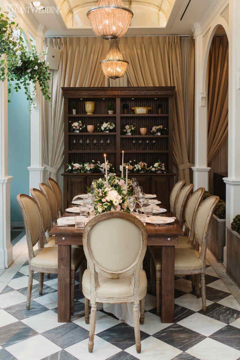 French tea party bridal shower table decor elegantwedding