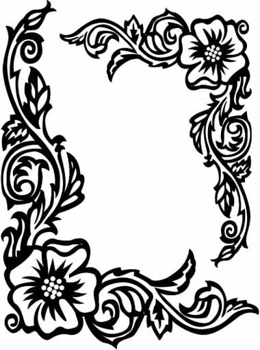 Flower Border Rose Coloring Pages X