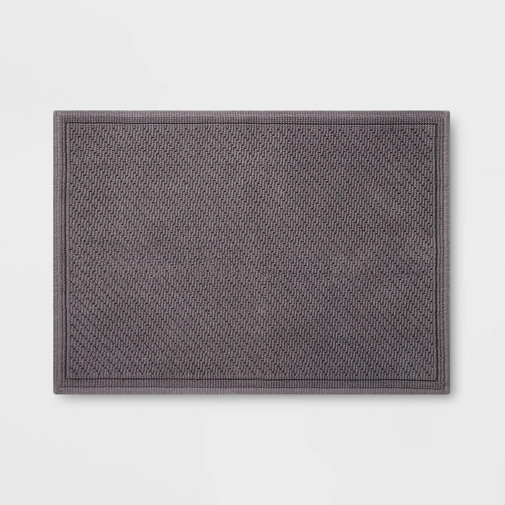 30 X21 Performance Solid Bath Mat Dark Gray Threshold With