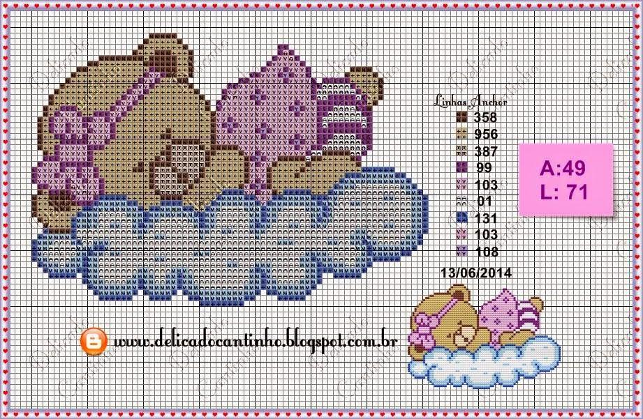 Motif pour enfant   Ponto cruz, Projetos de ponto cruz, Ponto cruz para bebê