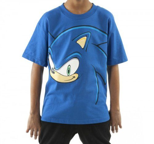 Youth Sonic The Hedgehog Face T Shirt Sonic T Shirt Sonic Sonic Costume