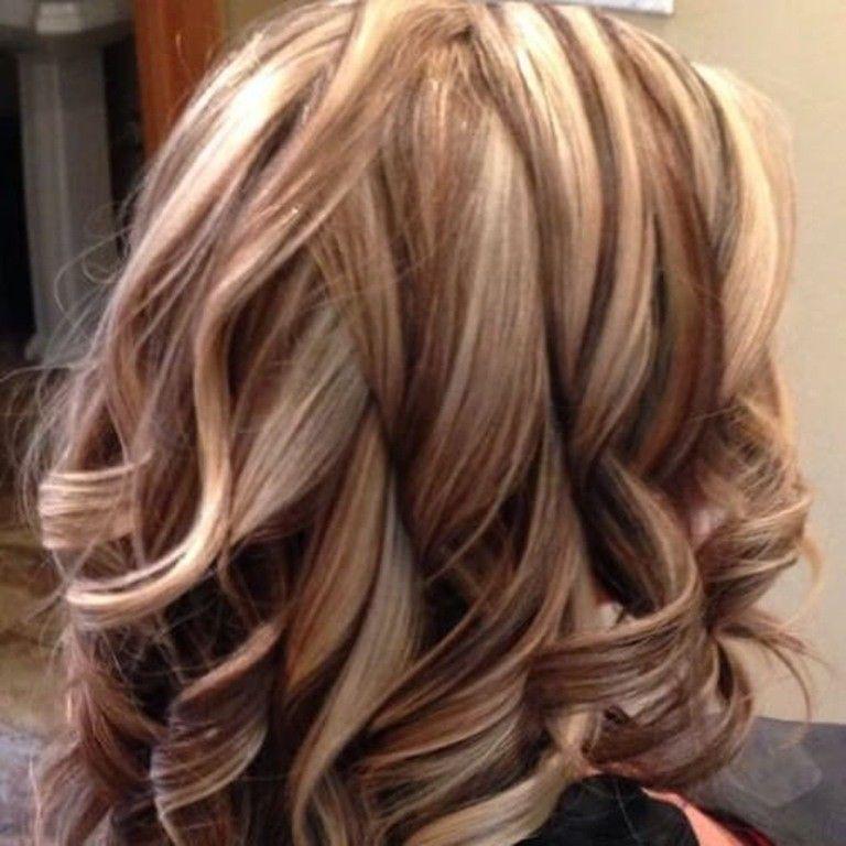 Braune Haare mit Leichten Blonden Strähnen   Haarfarben