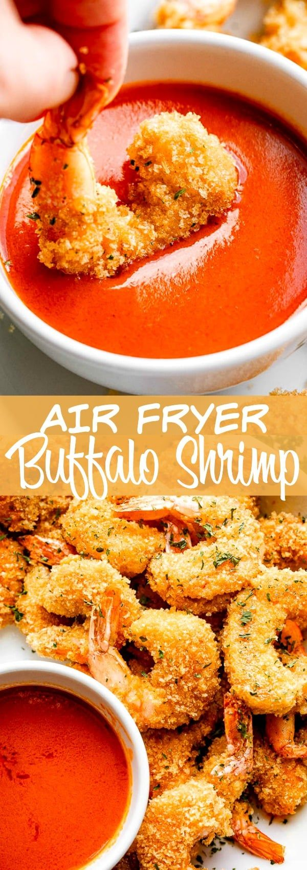 Crispy Air Fryer Buffalo Shrimp - Perfect Fried Shrimp!