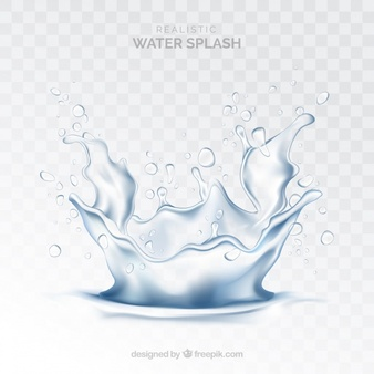 Water Splash Without Background In Realistic Style Splatter Art Water Background Background
