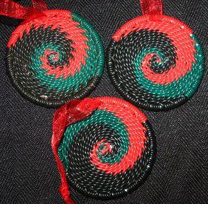 African Zulu Telephone Handmade Wire Christmas Ornaments