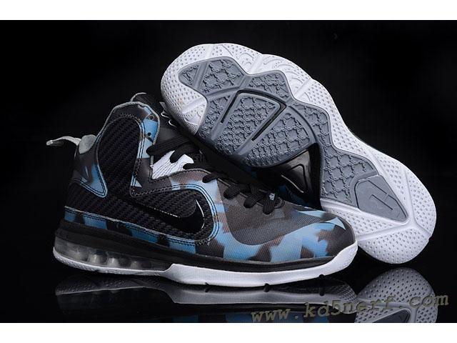 timeless design fce7e 34498 Nike Air Max LeBron 9 Leopard Shoes Black Blue Hot