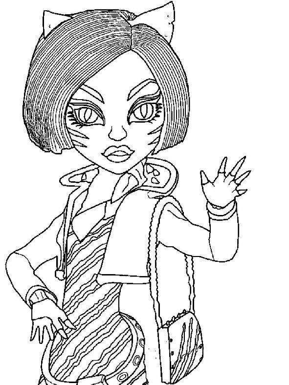 monster high toralei stripe coloring pages