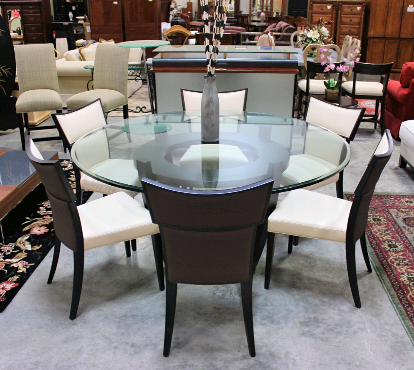 Udia cream leather chairs furniture pinterest glass table