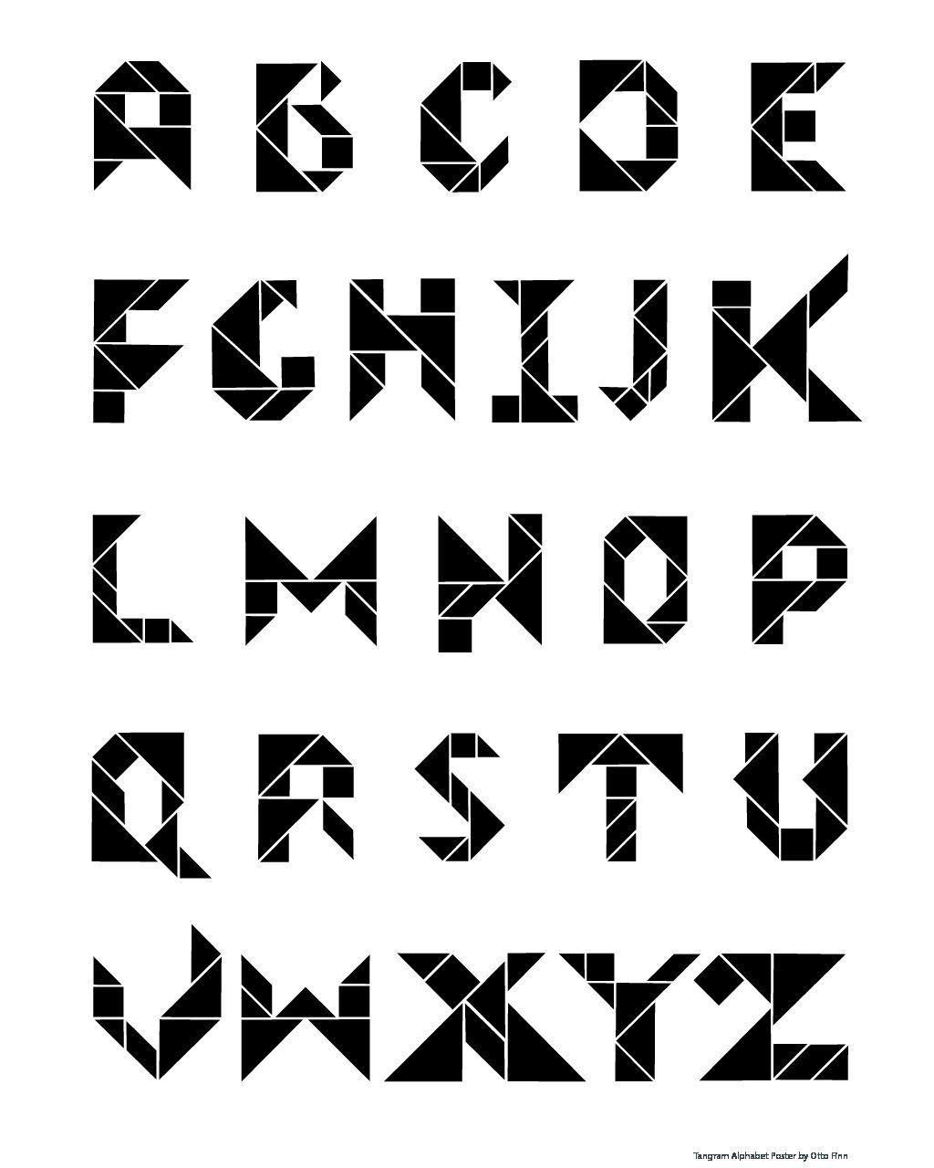 Free Tangram Alphabet Poster