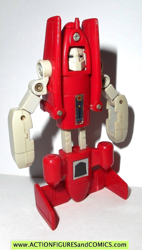 Transformers generation 1 POWERGLIDE 1985 complete vintage red plane