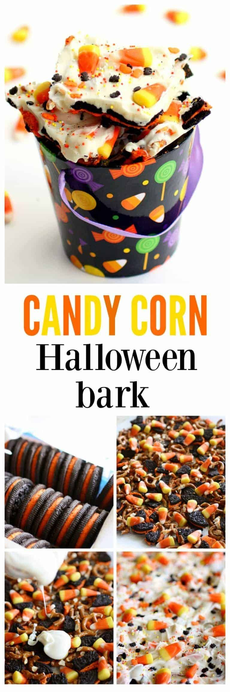 Halloween Candy Corn Cookie Bark - The Girl Who Ate Everything