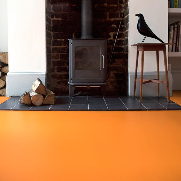 Tangerine Orange Vinyl Flooring In 2019 Love Vinyl Flooring