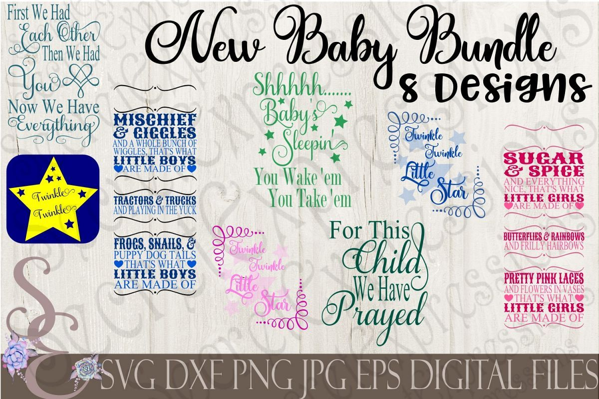 New Baby SVG Bundle New baby products, Baby svg, Cricut