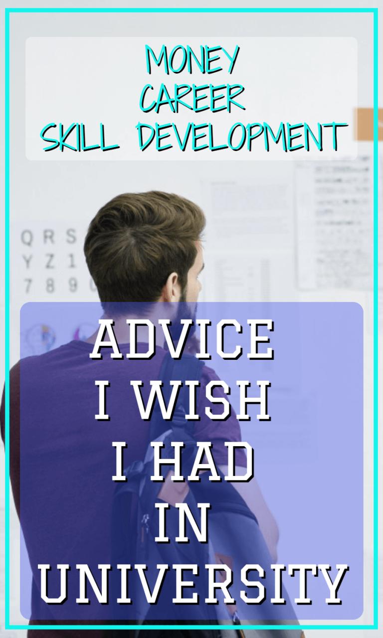 Money Career Skill Development Advice I Wish I Had In