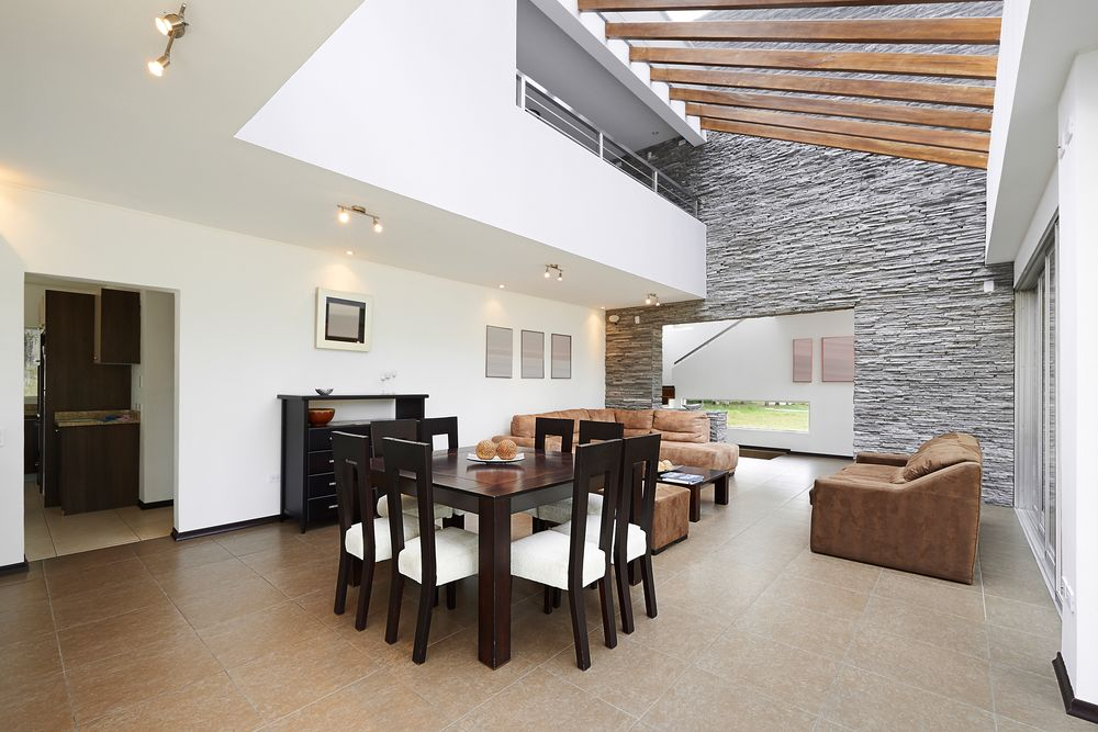 Modern Home With Loft Overlooking The Living Room