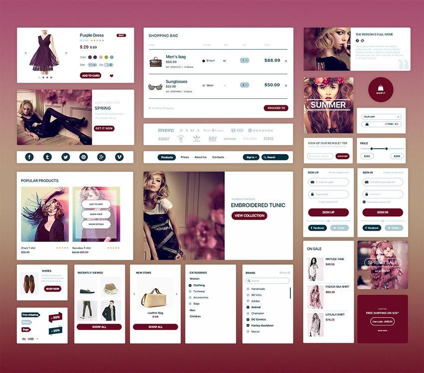 E-commerce UI Kit | Best UI Kits PSD | Pinterest | Ui kit, Psd ...