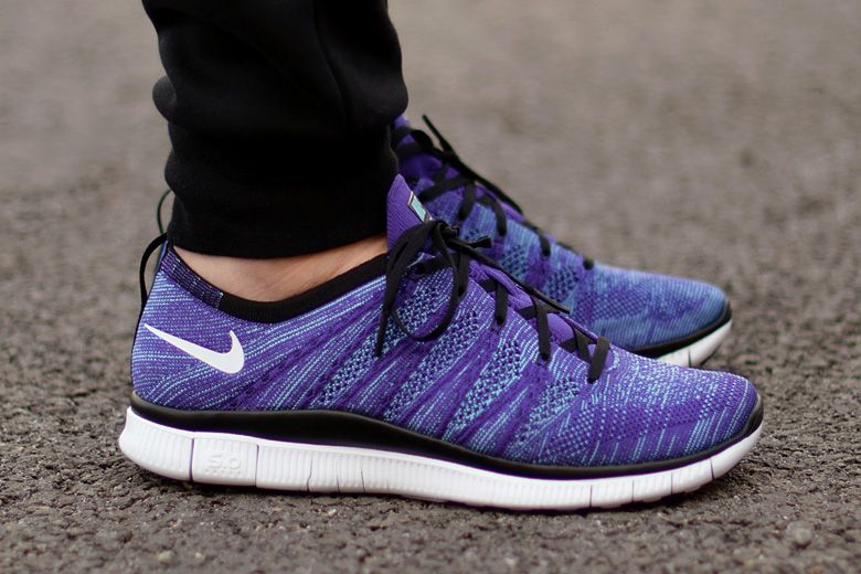 nike free flyknit nsw purple flowers