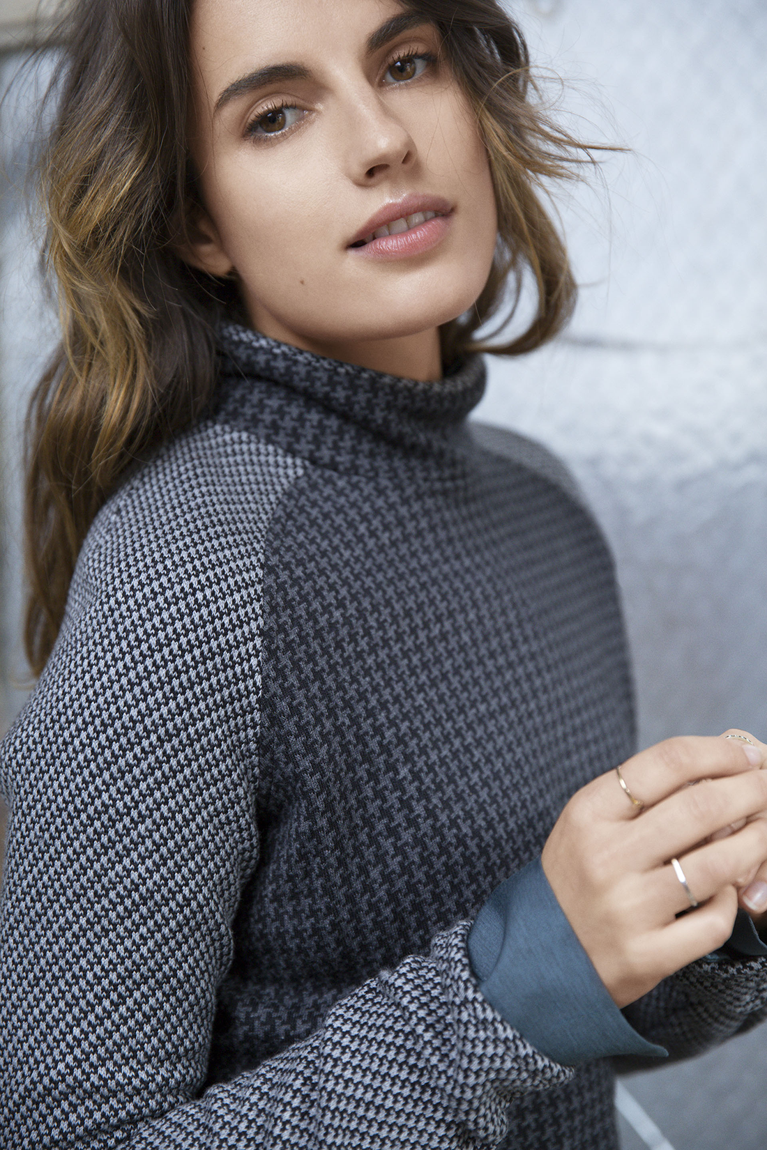 ac7b521e30ed7a Patterned & Polished The Lou & Grey Houndstooth Popover | Sweater ...