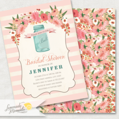 Mason Jar Invitation, Printable