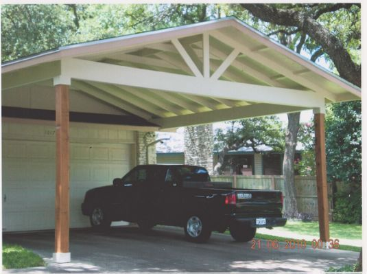 Wood Carports Attached To House With Images Carport Plans