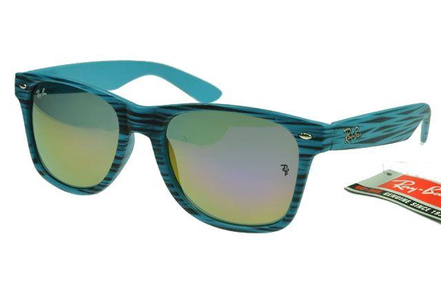 3a0f3316d Wayfarer RayBan RB2132 Sunglasses Light Blue Pattern -- Colorful Lens $14.93