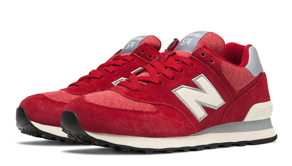 Pennant Pack 574 in Dark Red with Off White WL574PBW - NEW BALANCE