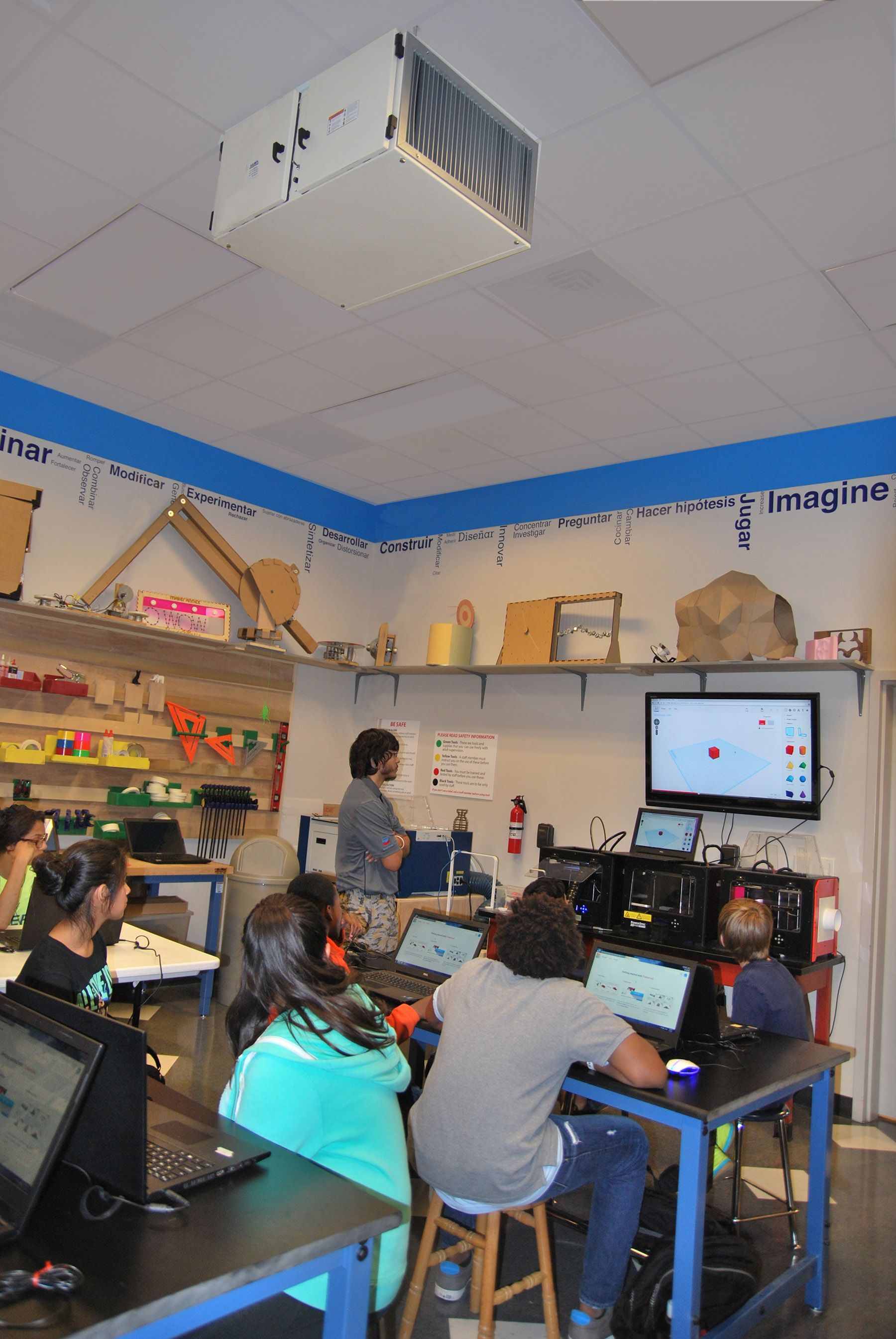 The Maker Annex at the Children's Museum of Houston is regularly