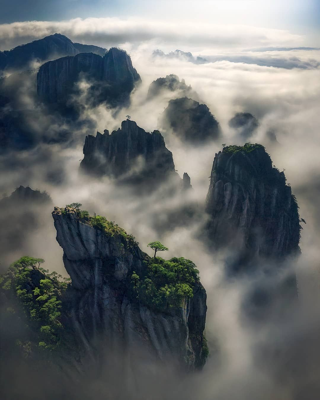 Yellow Mountain China By Max Rive 1080x1350 Px Sscouterss Https Ift Tt 2tvhmye March 08 2019 At 0 Chinese Mountains Chinese Landscape Landscape Photography